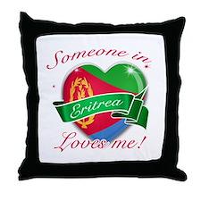 Eritrea Flag Design Throw Pillow