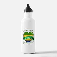 Gabon Flag Design Water Bottle