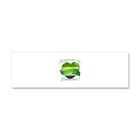 Gabon Flag Design Car Magnet 10 x 3