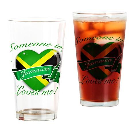 Jamaica Flag Design Drinking Glass
