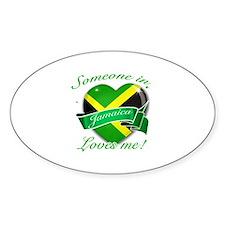 Jamaica Flag Design Sticker (Oval)