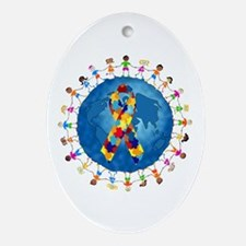 Autism-1 Ornament (Oval)
