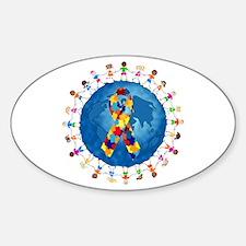 Autism-1 Sticker (Oval)