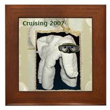 Towel Animal 2007 Framed Tile