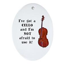 I've Got a Cello Oval Ornament