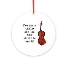 I've Got a Cello Ornament (Round)