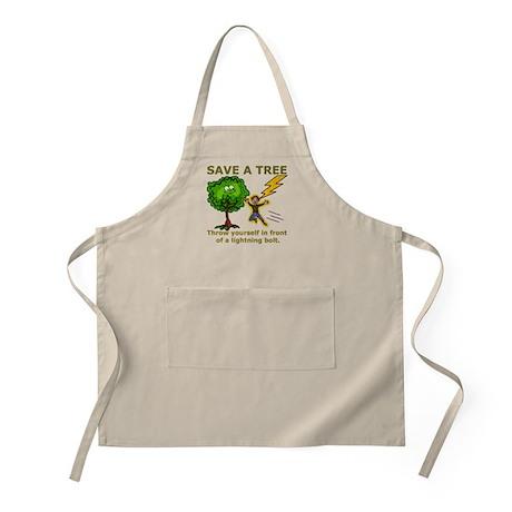 Funny Save a Tree Apron