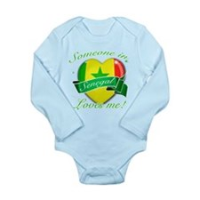 Senegal Flag Design Long Sleeve Infant Bodysuit