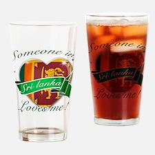 Sri Lanka Flag Design Drinking Glass