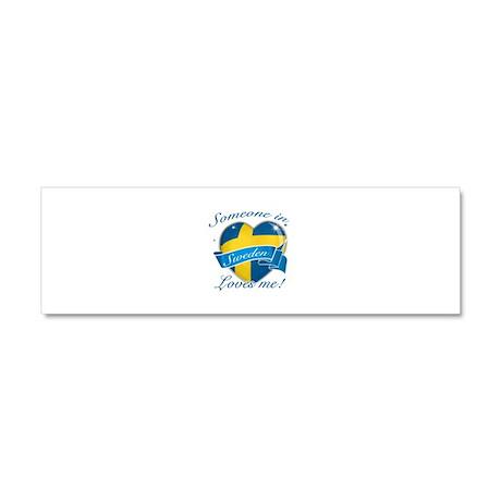 Sweden Flag Design Car Magnet 10 x 3