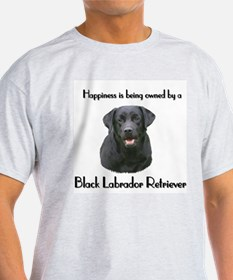 Happiness Labrador Ash Grey T-Shirt