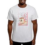 Cherry Blossom Shiba Inu Light T-Shirt