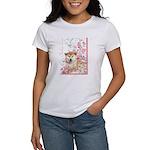 Cherry Blossom Shiba Inu Women's T-Shirt