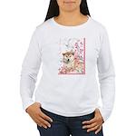 Cherry Blossom Shiba Inu Women's Long Sleeve T-Shi