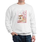 Cherry Blossom Shiba Inu Sweatshirt