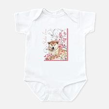 Cherry Blossom Shiba Inu Infant Bodysuit