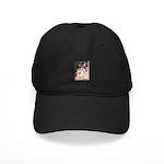 Cherry Blossom Shiba Inu Black Cap