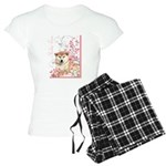 Cherry Blossom Shiba Inu Women's Light Pajamas