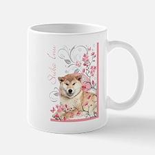 Cherry Blossom Shiba Inu Mug