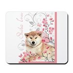 Cherry Blossom Shiba Inu Mousepad