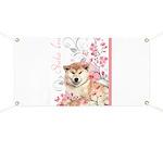 Cherry Blossom Shiba Inu Banner
