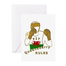 Wales Queensberry Style Boxing Greeting Cards (Pk