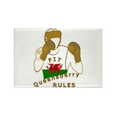Wales Queensberry Style Boxing Rectangle Magnet (1