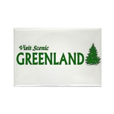 Cute I love greenland Rectangle Magnet