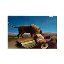 Rousseau - Sleeping Gypsy Rectangle Magnet