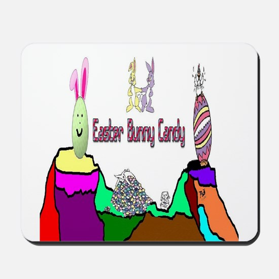 Easter Bunny Candy Mousepad