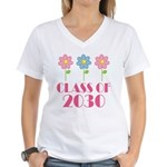 2030 School Class Cute Women's V-Neck T-Shirt