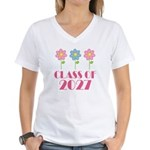 2027 School Class cute Women's V-Neck T-Shirt
