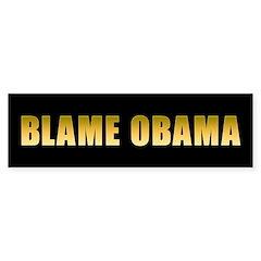 Blame Obama Sticker (Bumper 10 pk)