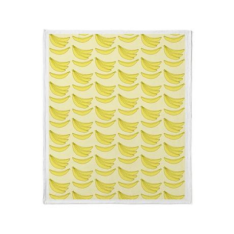 Banana Pattern Throw Blanket