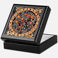 BoxQ Tapestry Box: Orange Tree of Life - Wm Morris