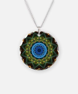 Sky and Leaves Kaleidoscope Necklace