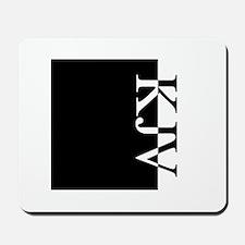 KJV Typography Mousepad