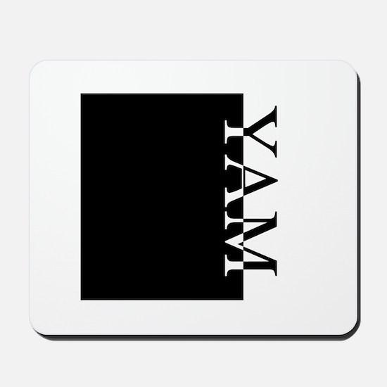 YAM Typography Mousepad