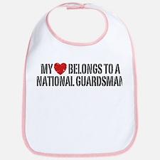 My Heart National Guardsman Bib