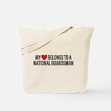 My Heart National Guardsman Tote Bag