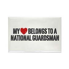My Heart National Guardsman Rectangle Magnet