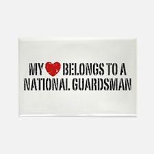 My Heart National Guardsman Rectangle Magnet