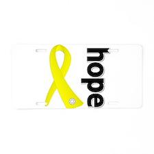 Hope Ribbon Ewing Sarcoma Aluminum License Plate