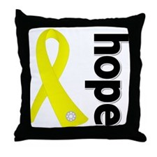Hope Ribbon Ewing Sarcoma Throw Pillow
