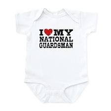 I Love My National Guardsman Infant Bodysuit