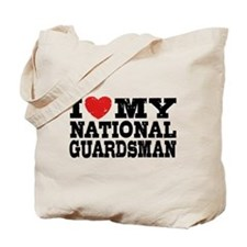 I Love My National Guardsman Tote Bag