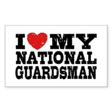I Love My National Guardsman Decal