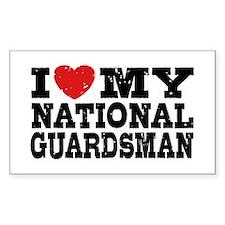 I Love My National Guardsman Decal