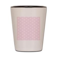 Pretty Pink Damask Pattern Shot Glass