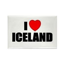 Funny I love greenland Rectangle Magnet
